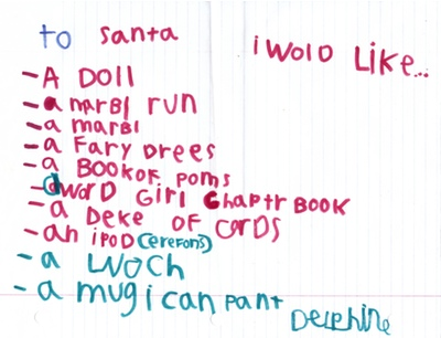 Delphine Writes To Santa